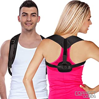 Posture Corrector for Women Men – Back Posture Support Brace and Neck - Shoulder Back Pain Relief – Fully Adjustable Upper Back Clavicle Support Brace for Slouching & Hunching Correctgoods