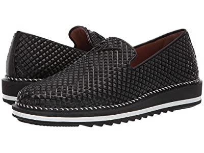 Giuseppe Zanotti Tim Geometric Texture Slip-On Sneaker (Nero) Men