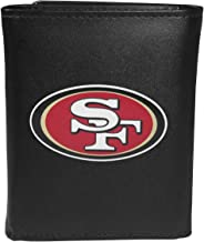 Siskiyou NFL Unisex Leather Tri-fold Wallet, Large Logo
