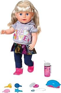 Zapf Creation 824603 Baby born Soft Touch Sister Blond pop met levensechte functies en veel accessoires, beweegbare gewric...