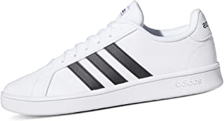 adidas Grand Court Base, Scarpe da Tennis Uomo, Ftwr White/Core Black/Dark Blue, 38 EU