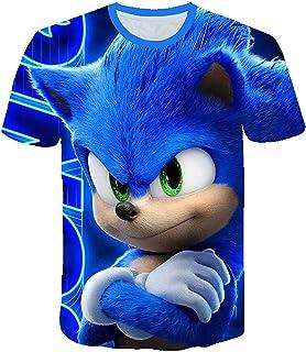 AMCYT Camiseta Sonic The Hedgehog para niños, unisex, diseño con dibujo 3D