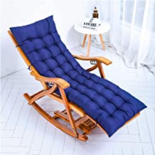 Outdoor Reclining Zero Gravity Chair Folding Adjustable Bamboo Rocking Chair Relaxer Lounger with Comfortable Cushions Max...