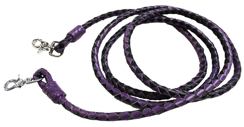 Horse Horse Western Purple Leather Round Braided Roper Reins 6652PR