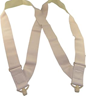 "Holdup Brand 2"" Wide Light Tan Under-Up Suspenders with Patented Jumbo Tan Gripper Clasp"