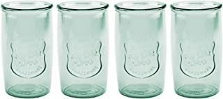 American Recreations Ice Cold Highball Set of four (4) Drink glasses (Recycled Green) (Recycled Green)