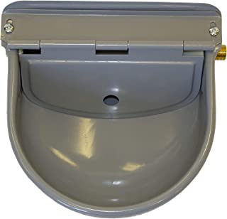 MD Barnmaster Steel Automatic Waterer Bowl   Adjustable Float Valve   Hardware Included   Always Fresh Water for Pets - Ca...