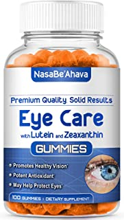 NASA Beahava Eye Vitamins with Vitamin C and Zinc (100 Count) Zeaxanthin, Lutein Multivitamins - Sugar-Free Gummies with A...