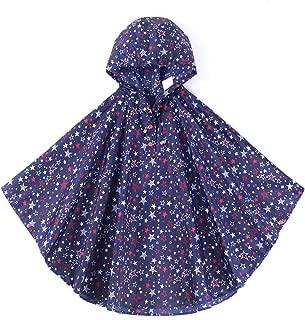 Spring Fever Girls Kids Toddler Hooded School Backpack Rain Ponchos Jacket Raincoats