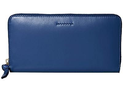 Cole Haan Kaylee Continental Wallet (Navy Peony) Wallet Handbags