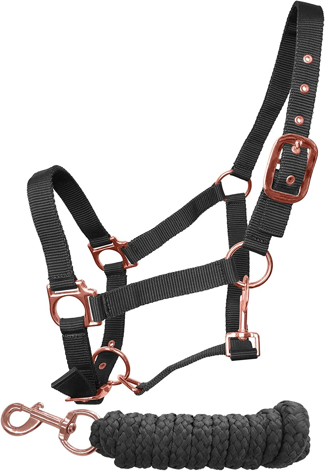 Headcollar and Lead Rope Set COB FREE UK Postage Rose Gold /& NAVY