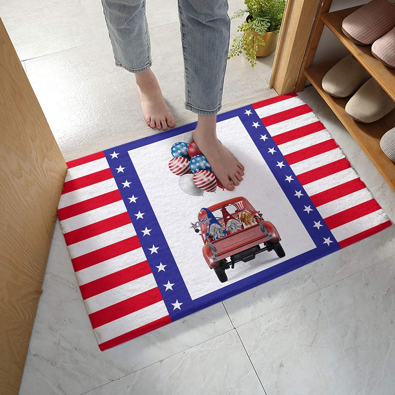 MuswannaA Nippon regular agency Bathroom Rug Bath Mat Flag New sales Independence American D Day