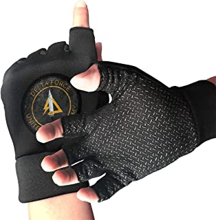 NUKMTAOER Delta Force Vintage Insignia Gym Gloves Workout Gloves Rowing Gloves Exercise Gloves Cross Training for Men & Women