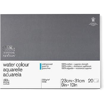 """Winsor & Newton Professional Watercolor Paper Block, Cold Pressed 140lb, 9""""x12"""", White"""