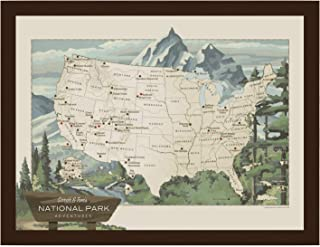 Personalized National Parks Map | National Parks of the USA Map | National Parks Push Pin Map | National Parks Gifts | Handmade in USA