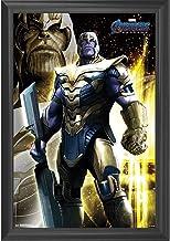 Thanos Wall Art Decor Framed Print | 24x36 Premium (Canvas/Painting Like) Textured Poster | Marvel Avengers Endgame Movie ...