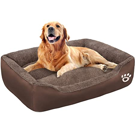 TR pet Large Dog Beds Pet Bed for Medium//Big//Extra Large Dogs Breathable Cotton Stuffing Orthopedic Dog Bed Washable with Removable Cover Waterproof Calming Dog Sofa Bed
