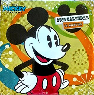Disney MICKEY AND FRIENDS Mickey Mouse Theme 2015 16 Month Wall Calendar