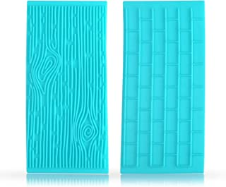 Quilted Fondant impression Mat Texture Mold Set with Brick Wall and Tree Bark Fondant Molds