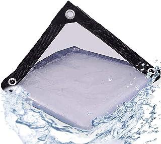 2x4m Zwaar uitgevoerd zeildoek Waterdicht PVC transparant Poly helder vinyl zeildoek, dik en duurzaam zoals verwacht Isola...