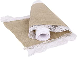 PIXNOR M Hessian Jute Lace Craft Ribbon Tablecloth