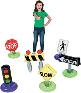 Fun Express Incredible Inflatable Traffic Signs (6 Piece Set)