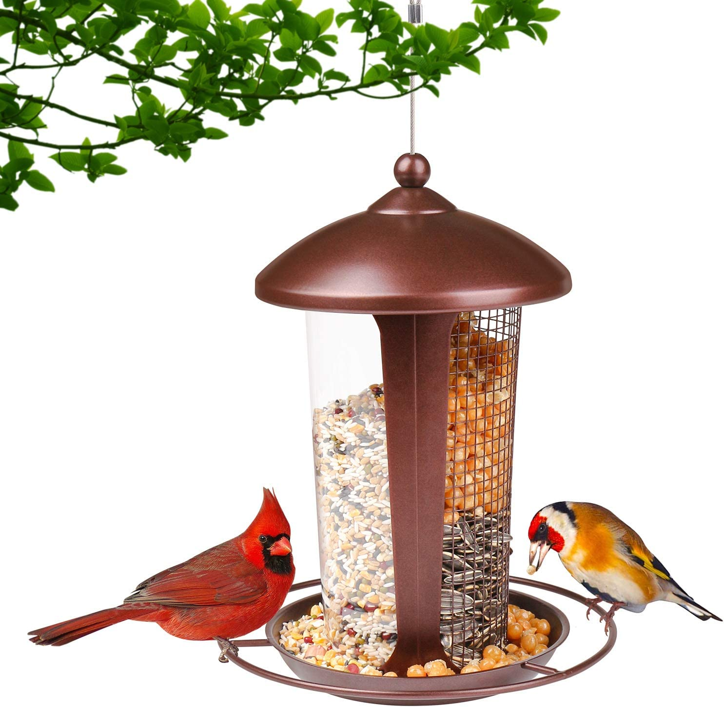 depot Wild Bird Feeder - Witacles 2 in 1 Feeders for Limited time sale Metal Hanging Gar