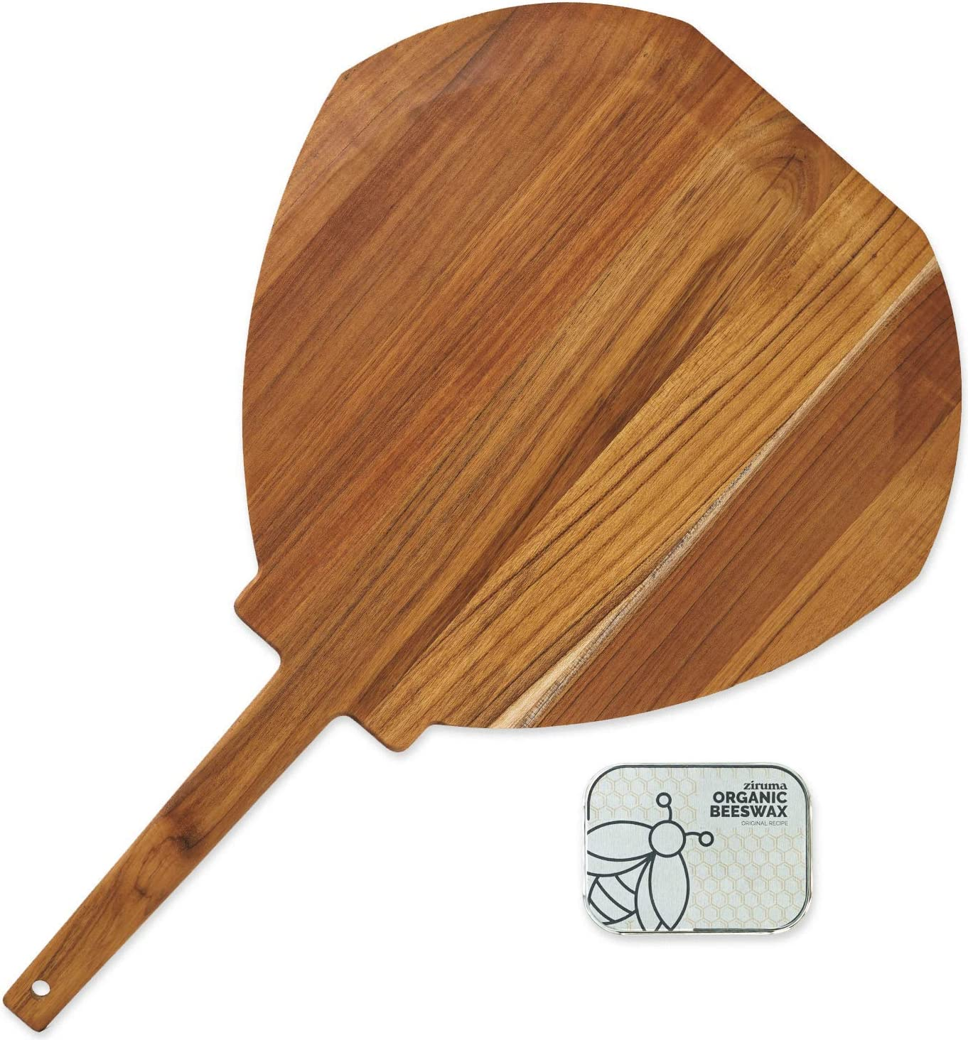Wooden Pizza Peel - Paddle Made Teak of Suitable 12
