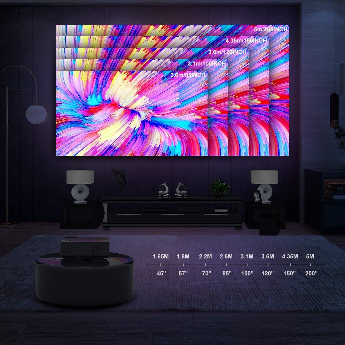 Ai LIFE Proyector Proyector LED Nativo de 9000 lúmenes y 1080P Soporte Full HD 4K 1920 x 1080 con Pantalla de 300