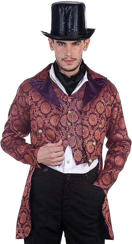 ThePirateDressing Ssquadrapunk Victorian gothic punk Vampire colleghi cappotto costume C1280 viola x-gree