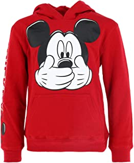 Jerry Leigh Kids Mickey Mouse Big Smile Hoodie Sweatshirt