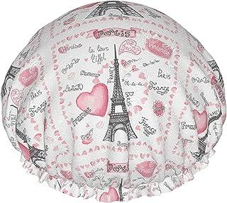 Wodoodporna czapka prysznicowa 'I Love Paris' z elastycznym obszyciem dwustronna konstrukcja do prysznica czapka do spania...
