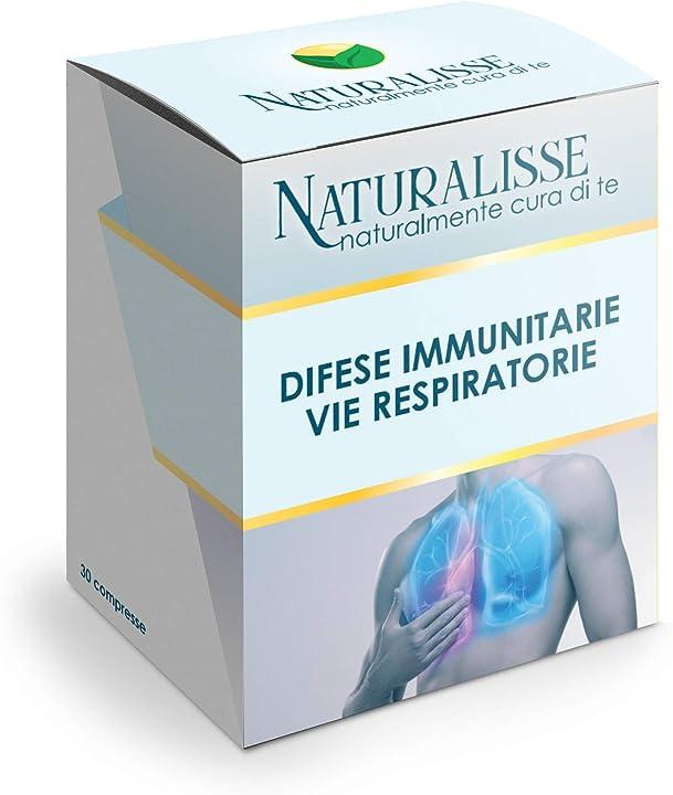 Integratore a base di vitamina c, echinacea e sambuco - 30 compresse naturalisse DIVR001
