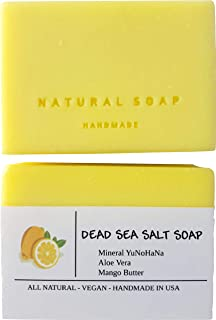 Dead Sea Salt Soap Bars with YuNoHaNa Mineral Powder & Mango Butter For Eczema, Psoriasis, Acne, Rashes, Sensitive Skin, a...