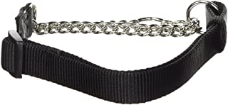 "Hamilton Adjustable Combo Choke Dog Collar, Black, Medium, 3/4"" x 18-26"""