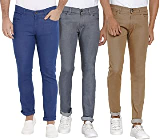 DAIS Men's Skinny Fit Jeans (Pack of 3)