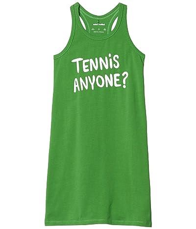 mini rodini Tennis Anyone Single Printed Tank Dress (Toddler/Little Kids/Big Kids) (Green) Girl