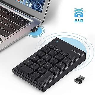 Wireless Number Pad Jelly Comb USB Numeric Keypad Accounting Numpad 22-Key Extension Protable Keypad for Laptop,PC,Desktop,Notebook(Black)
