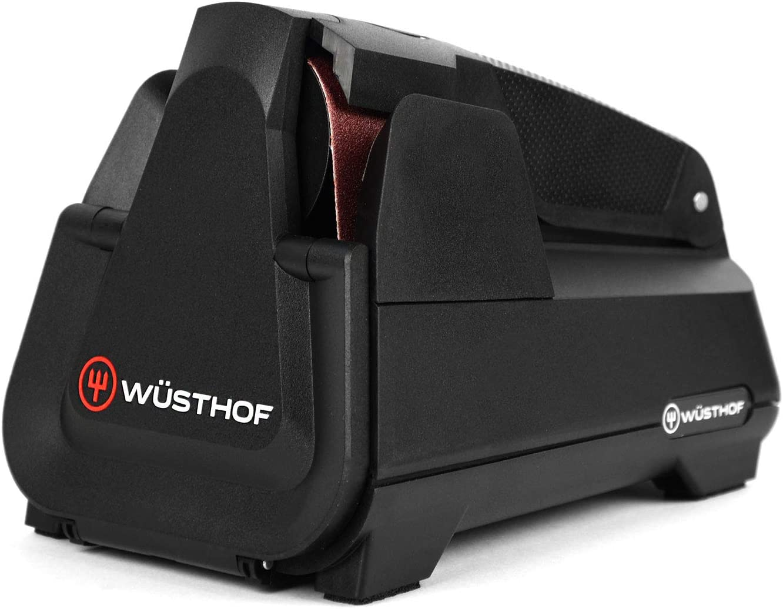 Wusthof Electric Knife Sharpener – Easy Edge Sharpener for Kitchen Knives – Black