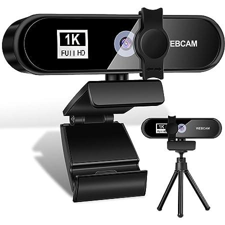Webcam per PC con Microfono,1080P Full HD Videocamera per PC/Desktop/Laptop/TV 2.0 USB, Plug and Play per Lezioni,Lavoro Online,Conferenze,Registrazioni,Compatibile con Skype,Zoom