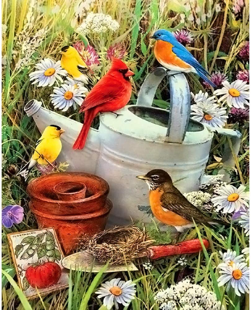 Diamond Finally resale start Painting Kits for Adults Washington Mall and Birds5D DIY Flowers