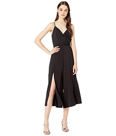 WAYF Silvia Slit Leg Jumpsuit (Black) Women
