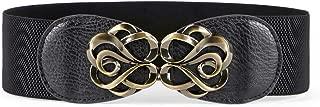 Women Stretchy Belt for Dresses Vintage Elastic Wide Waist Belt