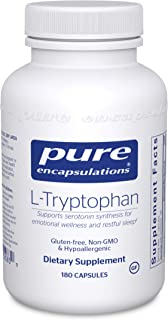 Pure Encapsulations L-Tryptophan | Amino Acid Supplement for Relaxation, Serotonin Support, PMS, Sleep, and...
