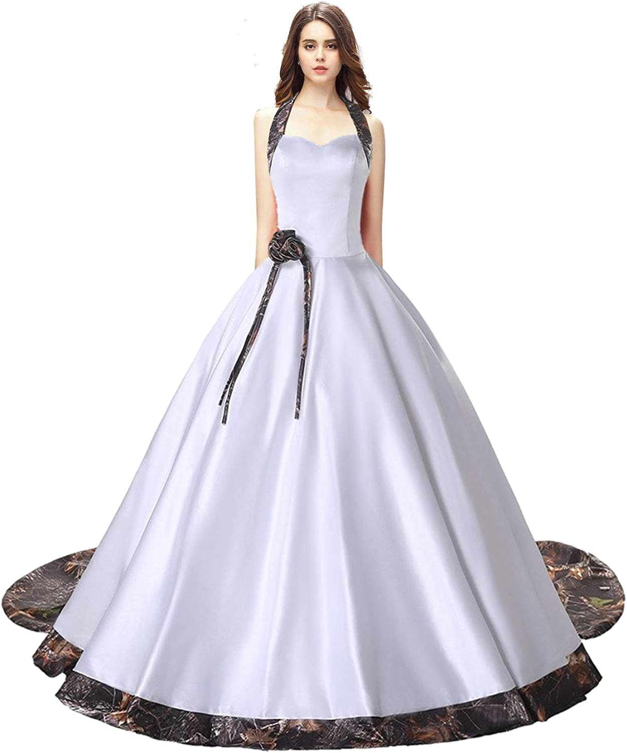 FASHION DRESS 2017 Camouflage Ball Gown Wedding Bridal Dresses Prom Quinceanera 002
