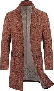 Men's Slim Fit Winter Wool Coat Long Trench Coat Business Jacket