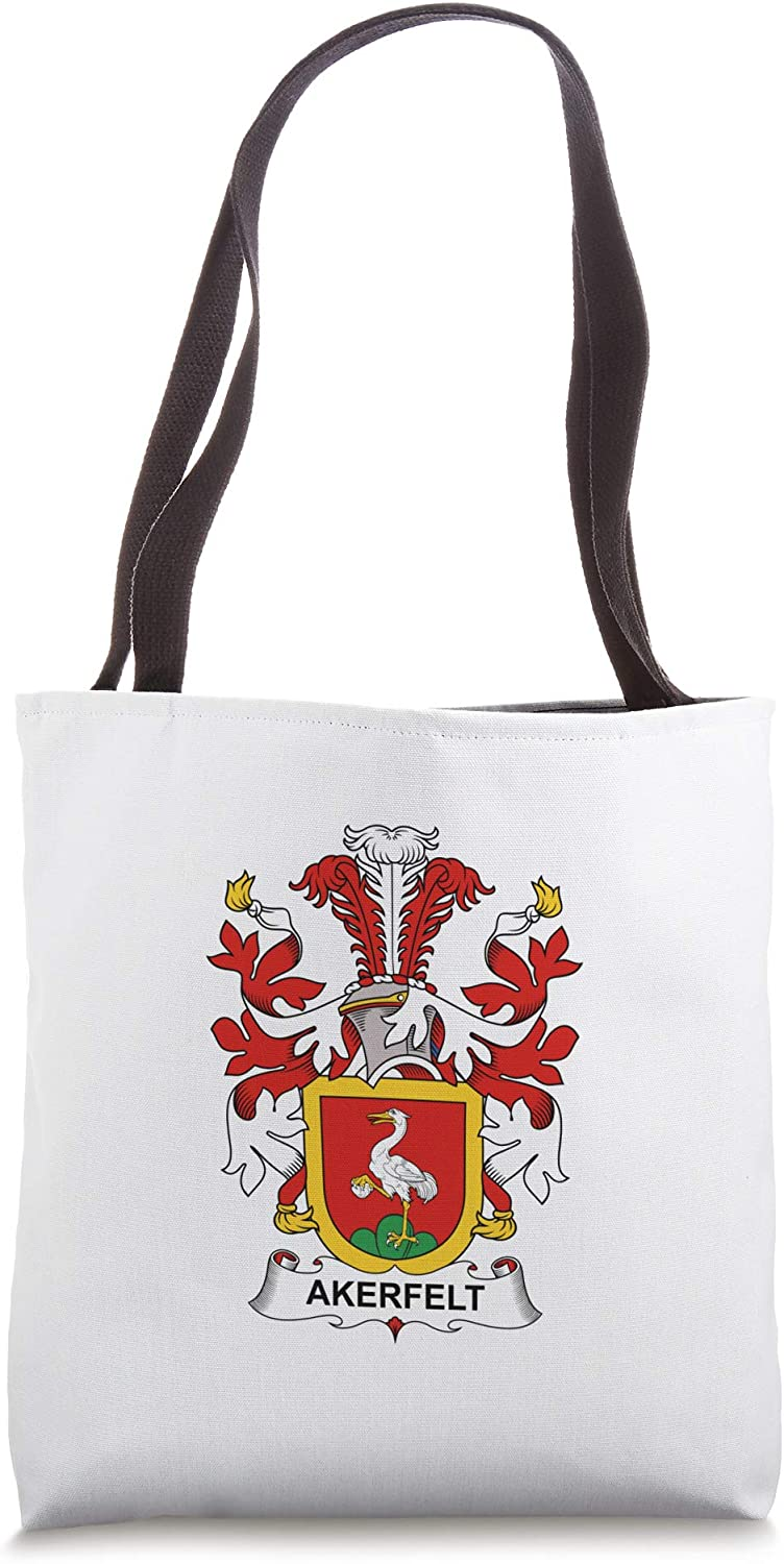 Akerfelt Coat of Arms - Family Crest Tote Bag
