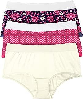 Comfort Choice Women's Plus Size 3-Pack Color Block Full-Cut Brief