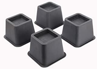 Ryehaliligear Easygoing 4-Pack 3 Inch Height Bed Risers, Furniture Riser Bed Riser and Bed Lifts,Helps You Storage Under The Bed