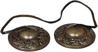Dragon Cymbals - Tibetan Buddhist Tingsha or Ting-Sha - Brass Statue